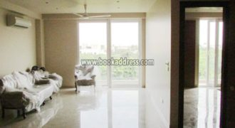 Semi Furnished South Delhi Vasant Vihar 3 BHK Apartment Flat for Rent/Lease